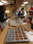 Women of the DWC bake for their coffeeshop