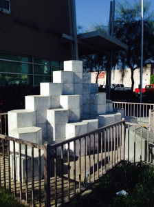 The sculpture erected on the site of the former McDonald's in San Ysidro, now a community college.
