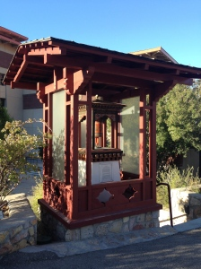 Prayer wheel behind UTEP's Centennial Museum